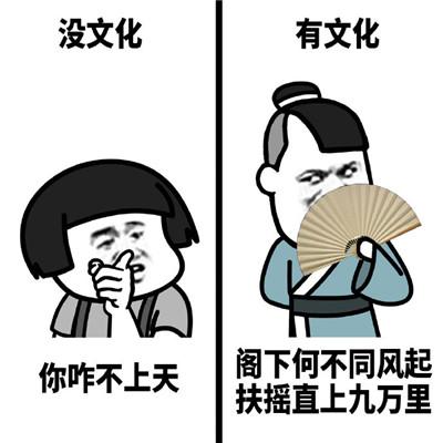 没文化和有文化的人说话的区别表情包 一组笑死人的搞笑表情